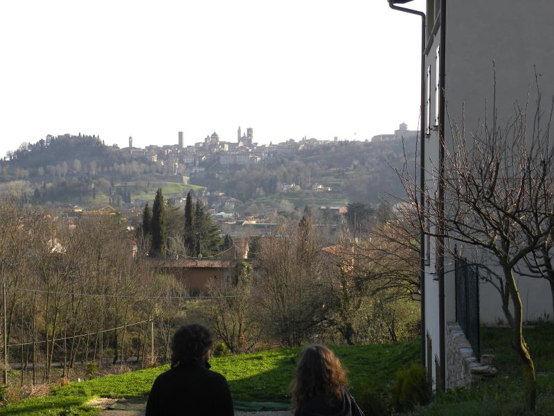 View towards Città alta from Aminta