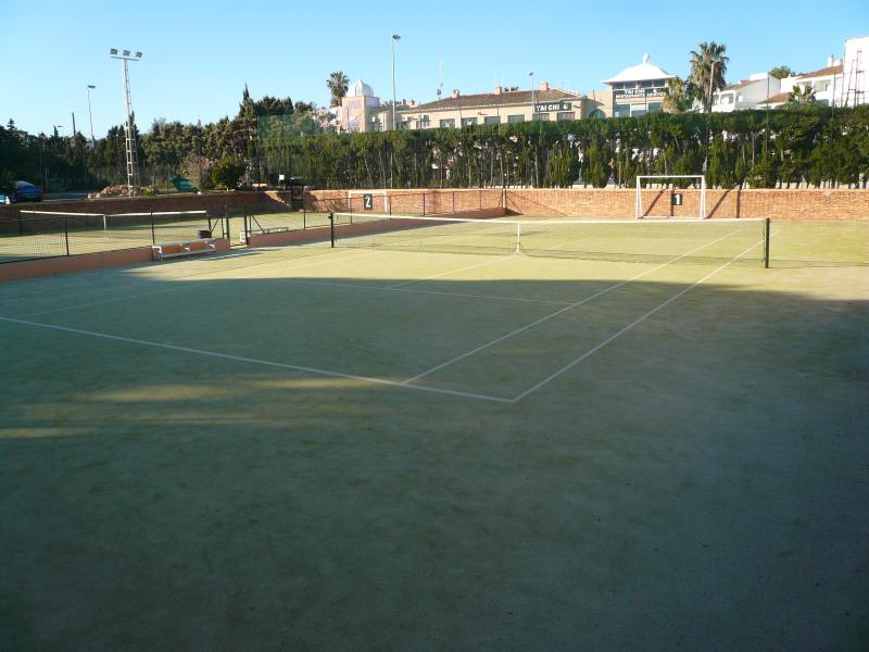 Tennis courts, you can hire rackets there or bring your own