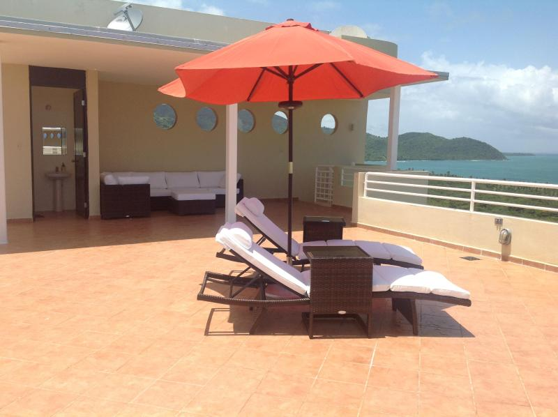 Terrace with a magnificent view of Caribbean sea