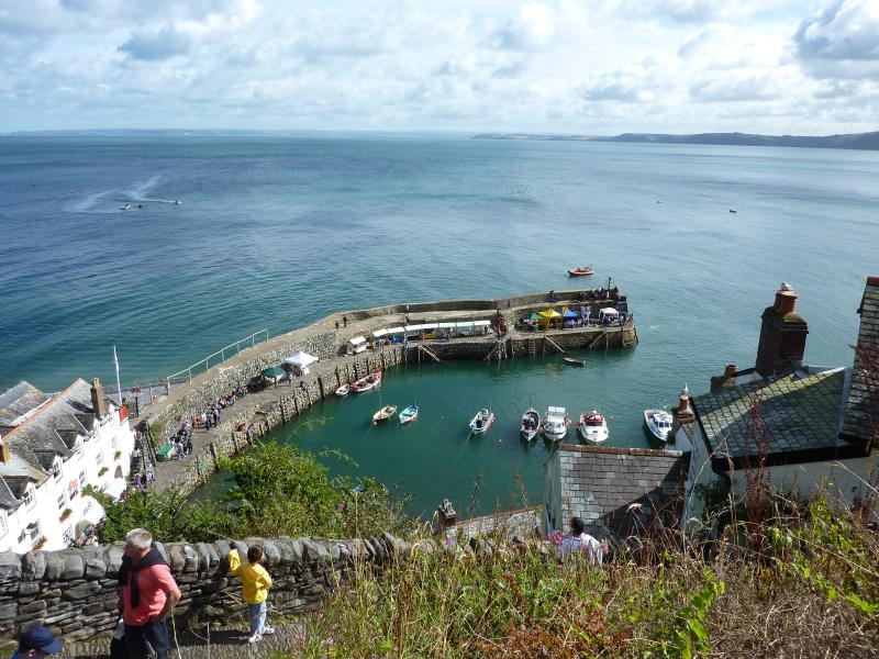 View of Clovelly harbour, thIS view of Clovellt harbour is from the path through the village