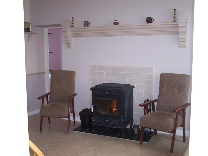 Traditional stove heating in addition to central heating