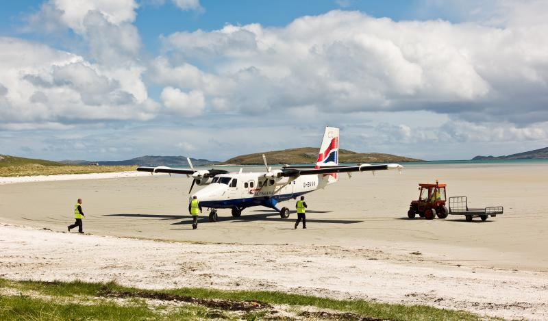 Barra Airport on the Cocklestrand!