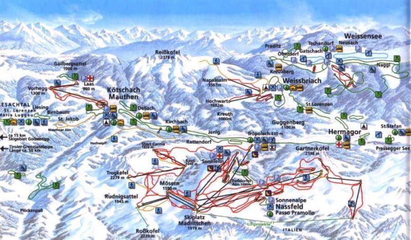 Nassfeld ski area 10 min. from the apartments