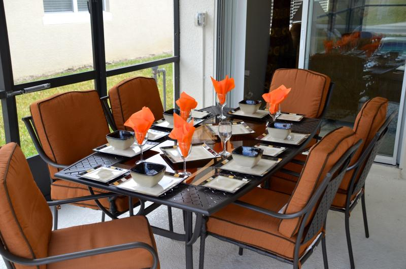 Outside dining patio