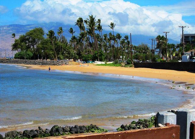 Kamaole Beach Park #1 is aan de overkant van Maui Vista
