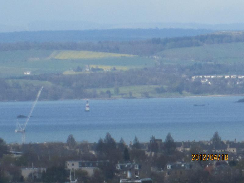 View across the city and Firth of Forth to Fife