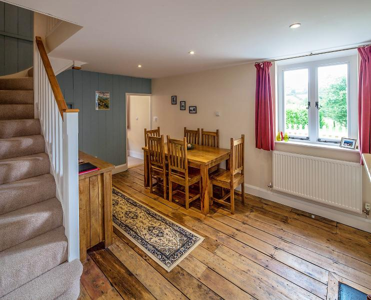 Dining Room with original floorboards