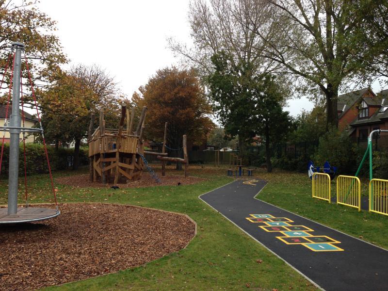 Fantastic children's playground one minute away!