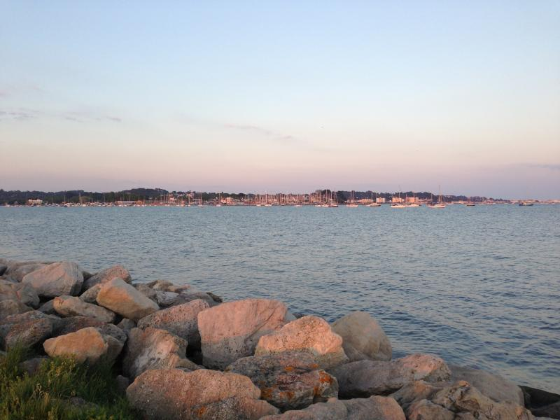 Views from Harbour Walk across Poole Bay to Lilliput