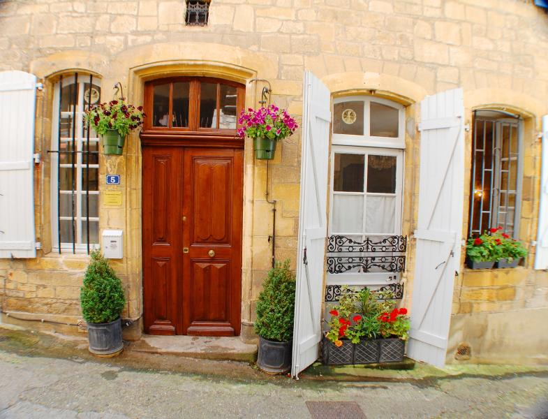 The entrance to the Merchant&s House on rue Magnanat in the very heart of Sarlat