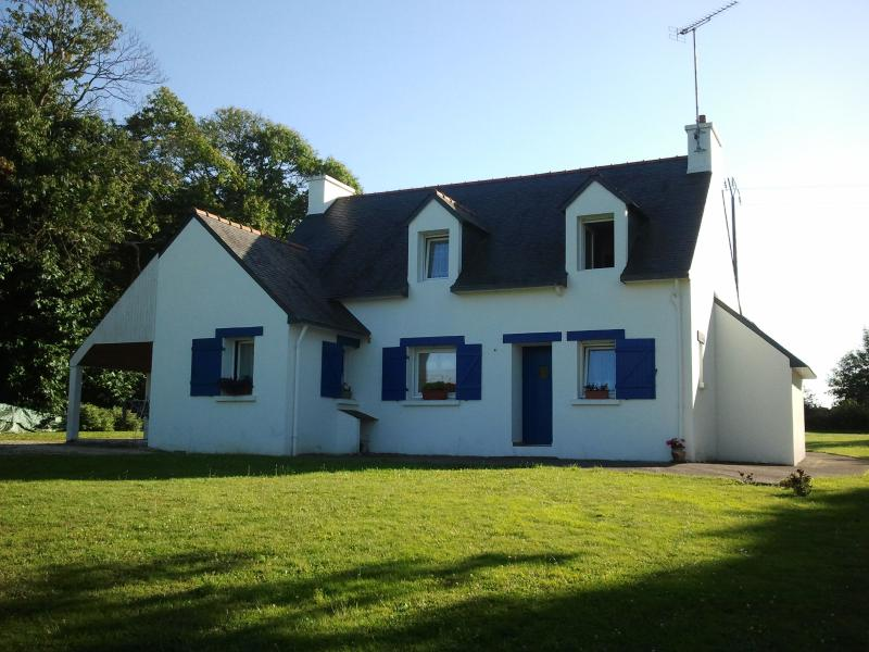 Charming blue shutters, back view