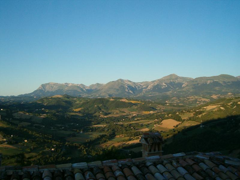 From the  terrace.  View to the Sybilline Mountains.