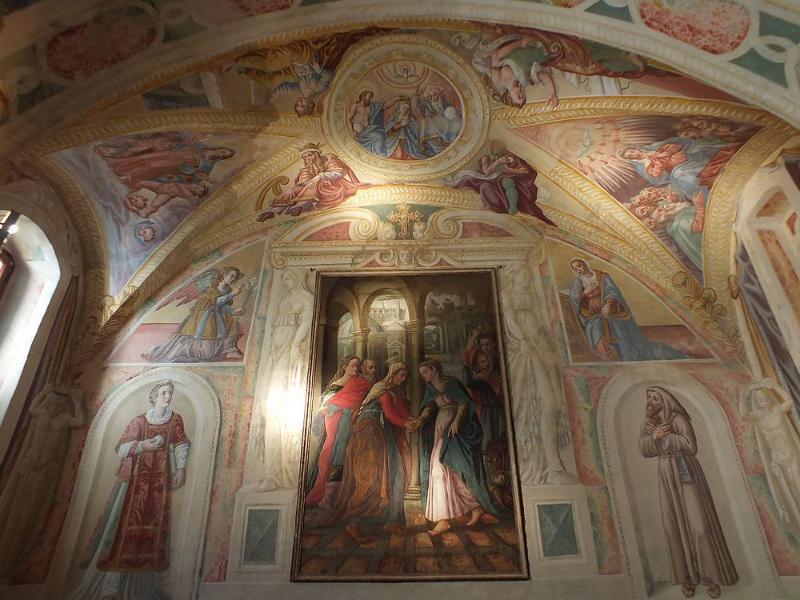 Monte San Martino. Church of the Madonna delle Grazie. Frescos from the XVI century.