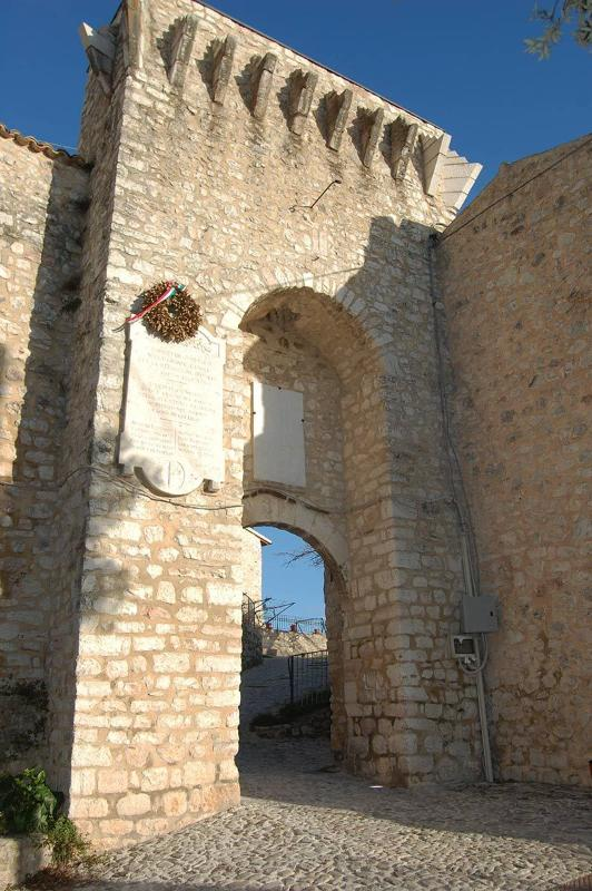 Entrance to the fortified heart of Campello Alto where house is located