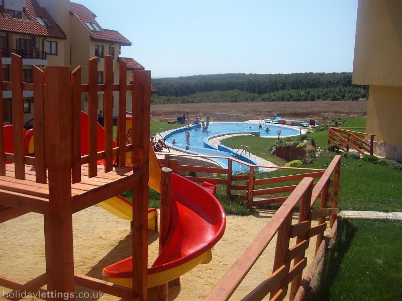 childrens play area and pool