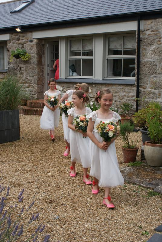 Bridesmaids at The Flower House.