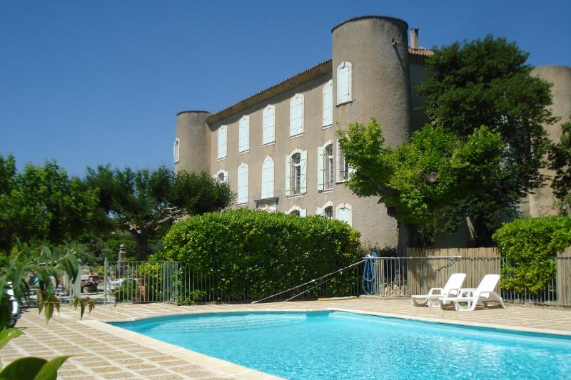 Chateau with Pool ,Tennis court,Boules pitch all in a very large peacefull beautifull garden.