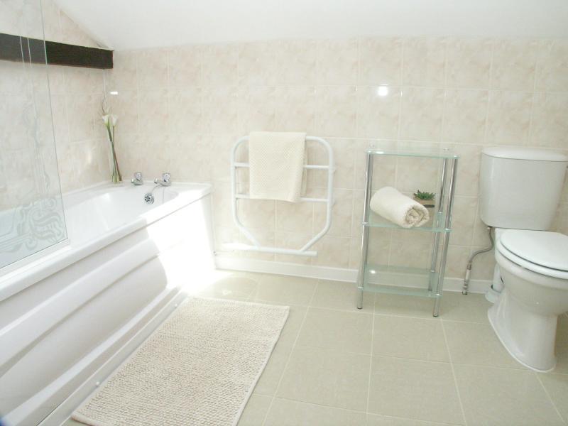 4 x Bathroom facilities (3 x main bathrooms plus bonus of en-suite bedroom. Showers x 4, 1 x bath