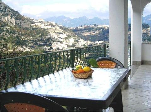 TERRACE OVERLOOKING RAVELLO AND AMALFI VALLEY