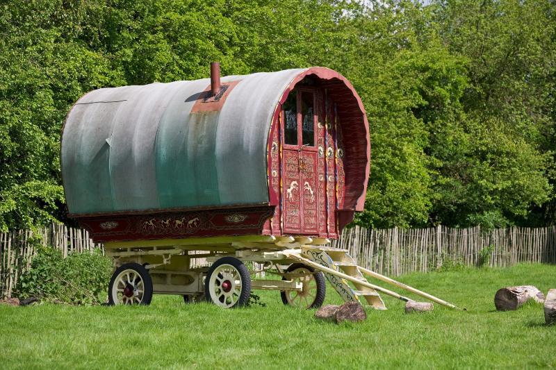 Play in the genuine Gypsy caravan