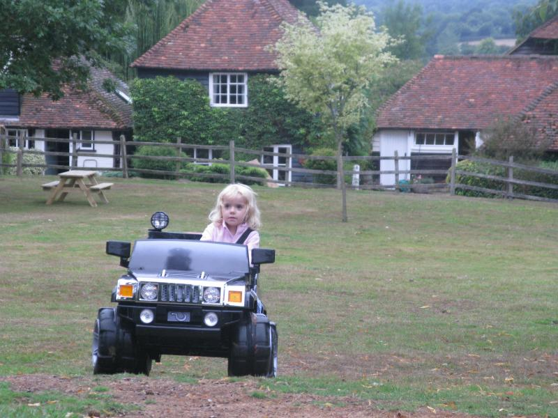 The electric jeep is a big hit with all the kids that fit