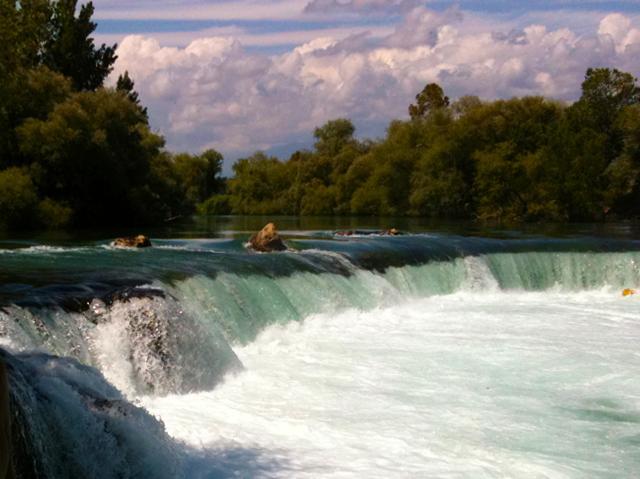 The Manavgat Waterfalls near Side Sunset Residence in Turkey