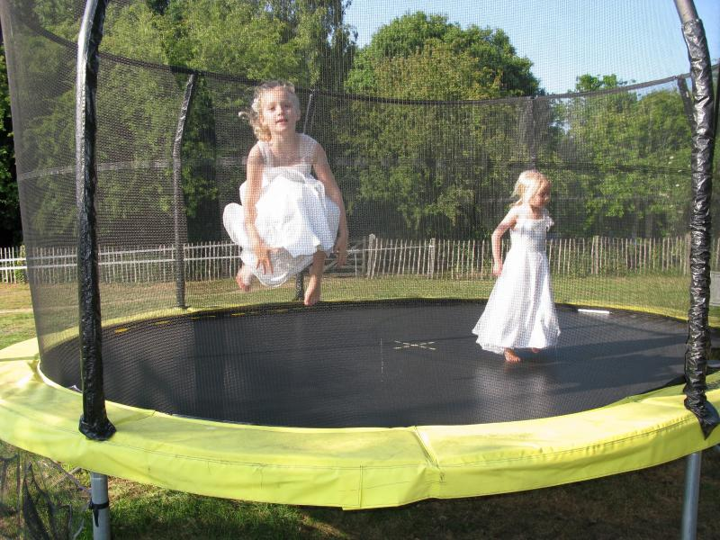There is never a bad time to have a bounce on the huge trampoline