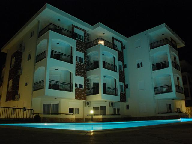 Side Sunset Residence in Turkey at Night