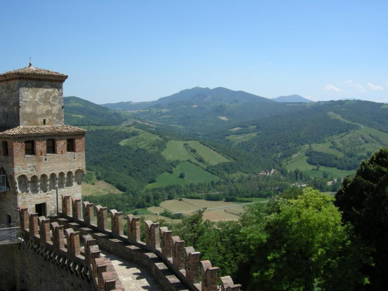 Vigoleno Borgo Medievale and surrounding country-side