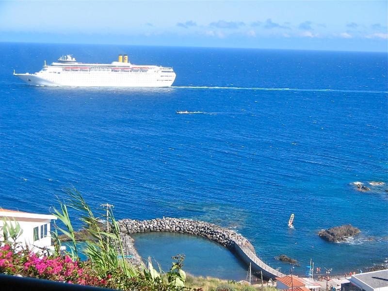 Watch the Cruise ships sail past