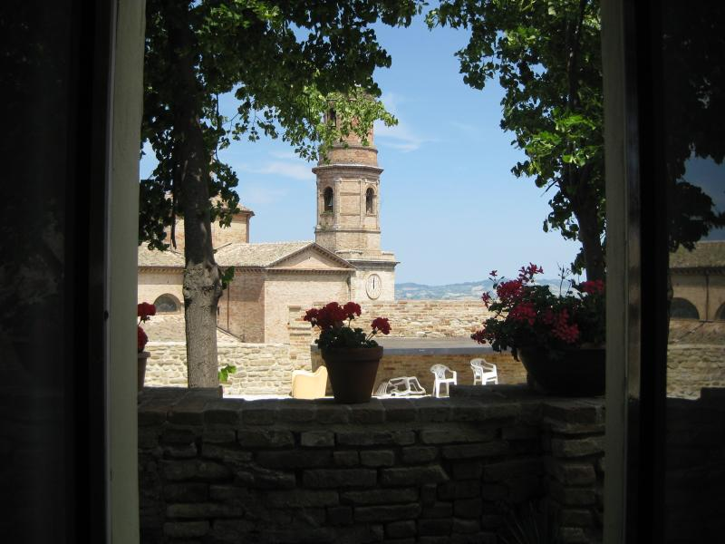 View from the bedroom across historic centre