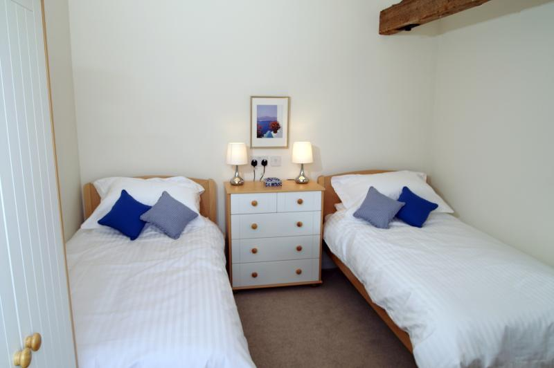 Hardy cottage twin bedded room.