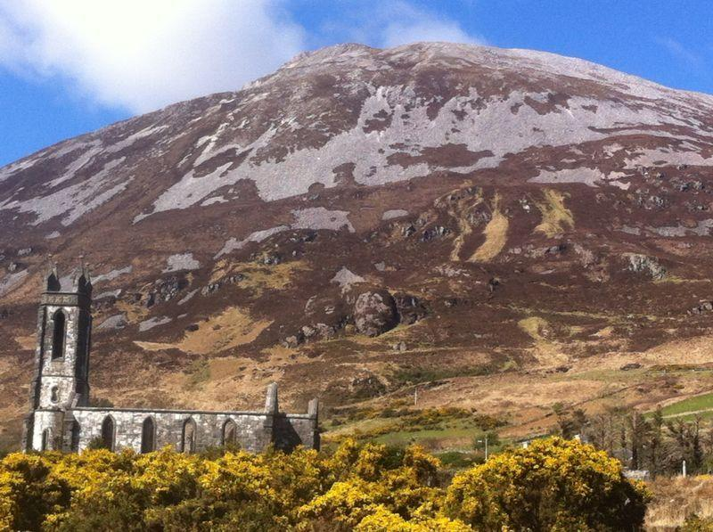 Dunlewey Church with Mt. Errigal in the background