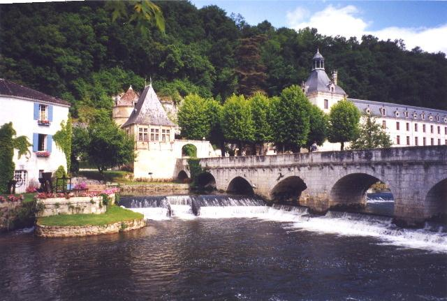 Brantome is picturesque and lively and you can canoe along the river.