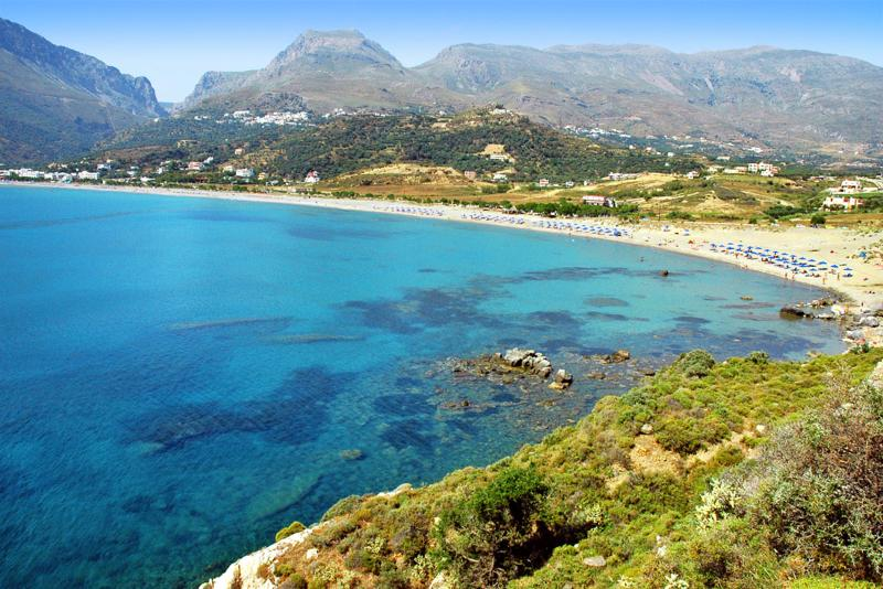 Plakias beach just 2,5km away from AnnaView apartments