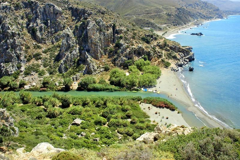 Preveli palm beach just 7km away from AnnaView apartments