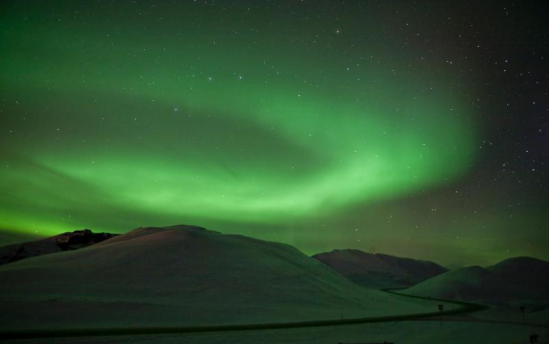 Dreaming of polar lights - they are right here!