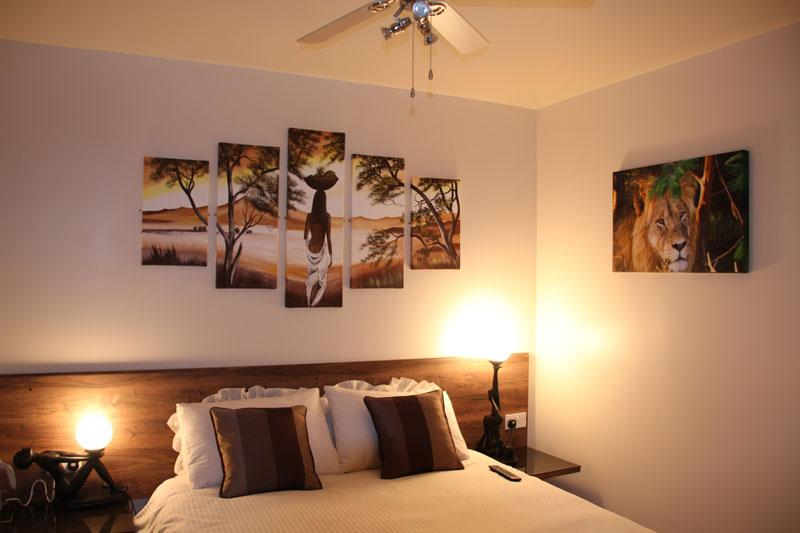 Bedroom 1 - with a modern African feel