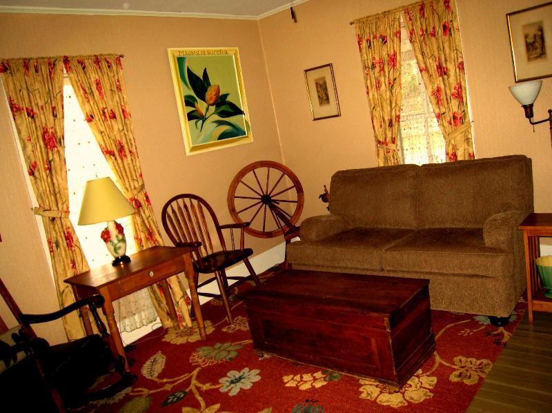 Living Room at Wildflower Cottage in Eureka Springs