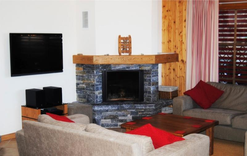 Comfortable, spacious lounge to relax by the fire