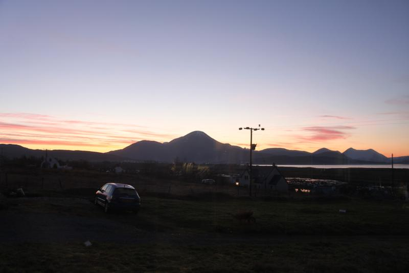 Sunset over the Cuillin mountains