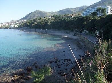 Bay of Cefalù .Picture taken from the footpath.