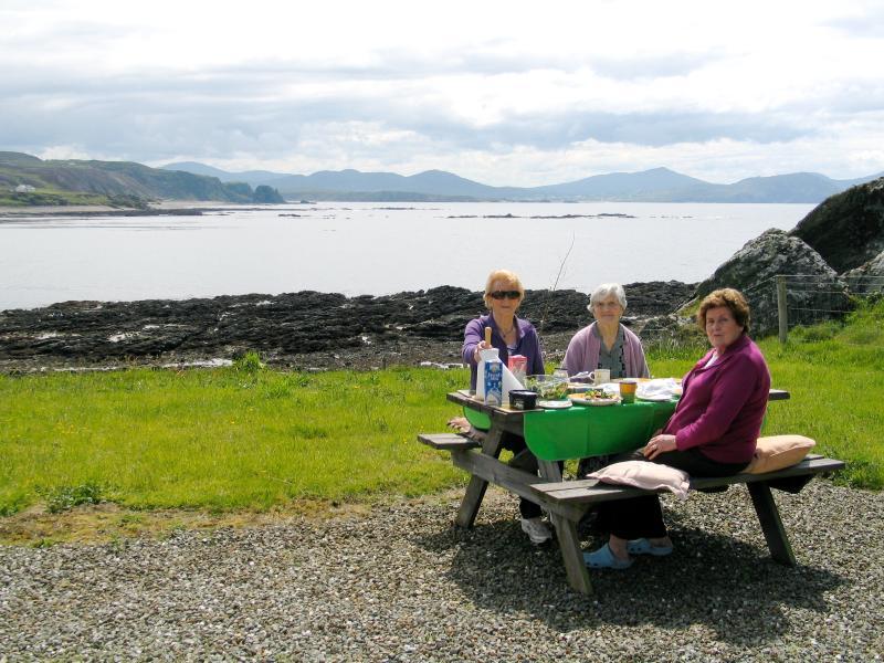 Enjoying a picnic at Gort na Cuile