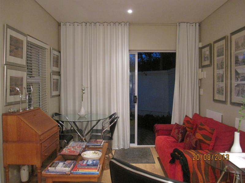 Lounge and dining area - with patio outside the sliding doors