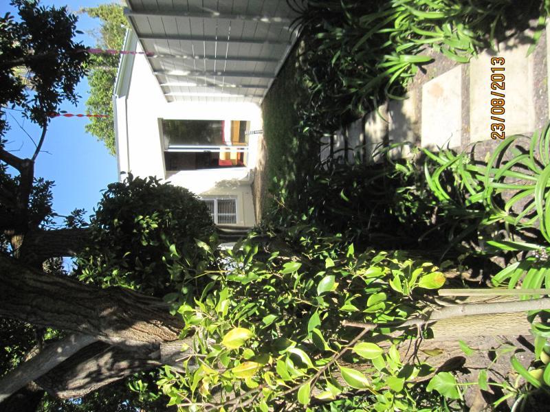 Garden path leading to bedroom