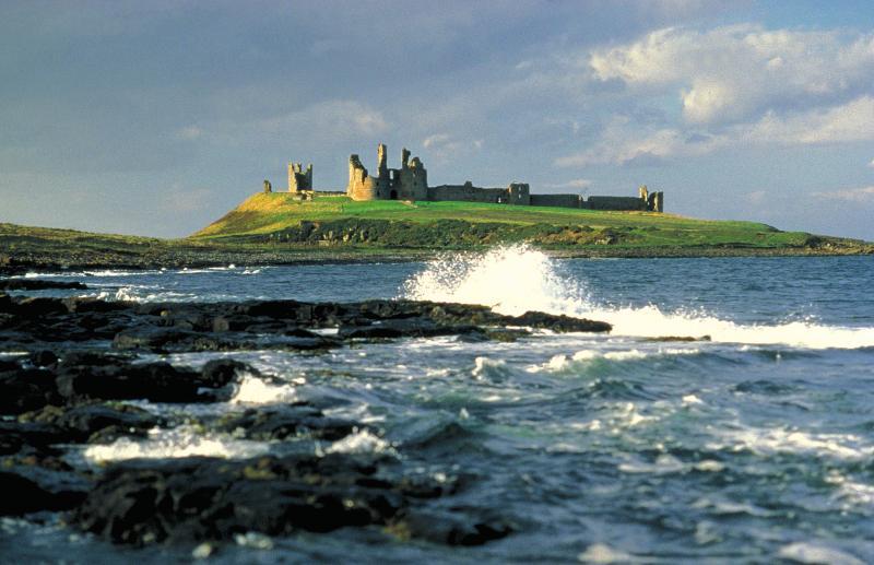 nearby Dunstanburgh castle