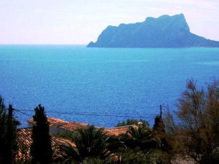 Terrace, Panoramic sea view at Ifach Rock