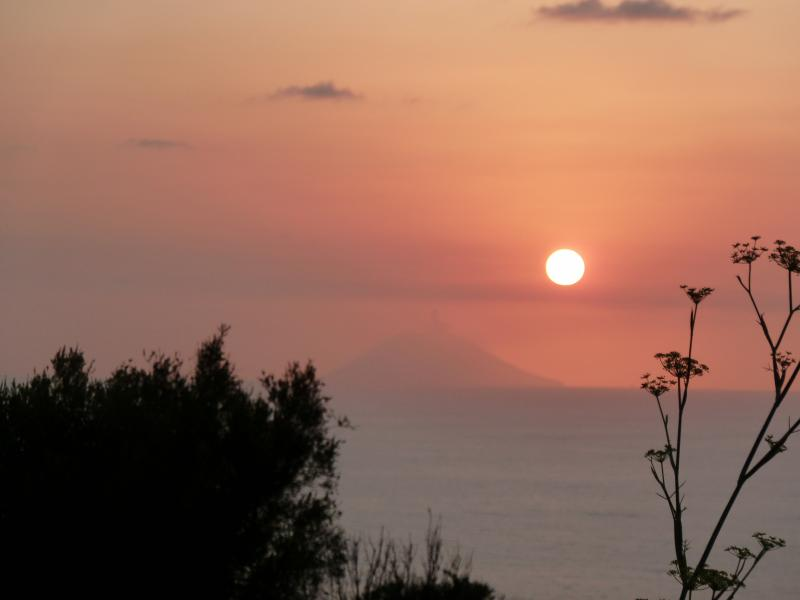 View from Lily Rosa towards Stromboli at Sunset