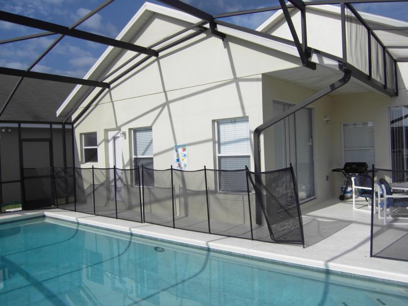Pool Deck with safety fence