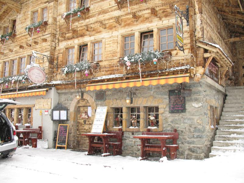 One of Grimentz's Restaurants / Hotels' decorated for winter